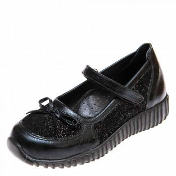 Туфли Panda 02445(784)чёрн кожа со вставками (28-30)