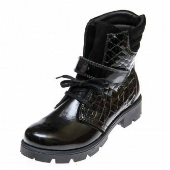 Ботинки д/с Panda 03372(51-100) чёрн.лак (26-30)