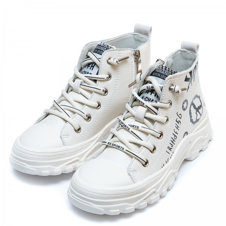 Ботинки д/с Fashion F626-1(31-36) бел