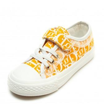 Кеды Fashion 1399(24-30) буквы бел/оранж.