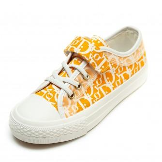 Кеды Fashion 1399(31-37) буквы бел/оранж.