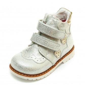 Ботинки Panda д/с 01KALP(21-25) бел/сереб