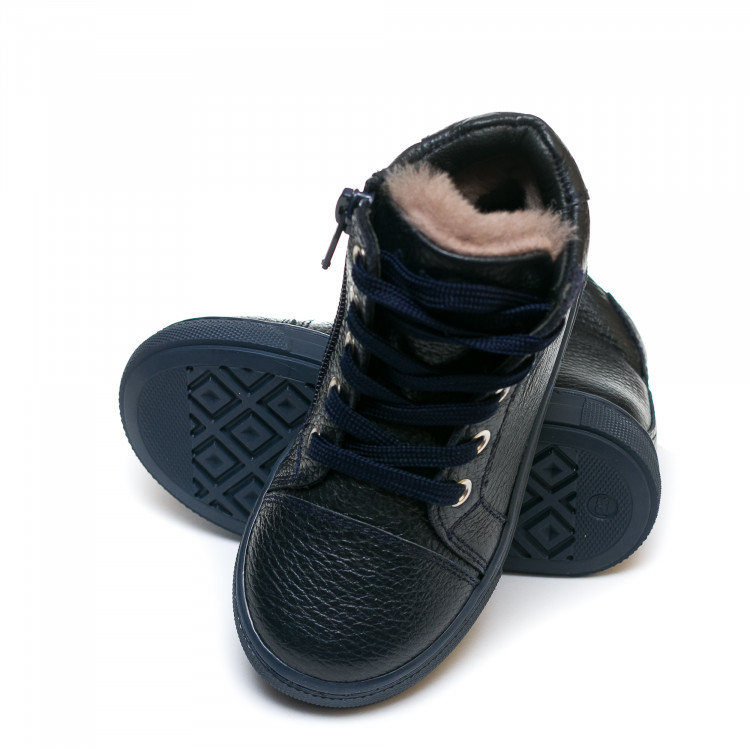Ботинки зима AlilA Z343SR шнурок темно-синие (22-25)