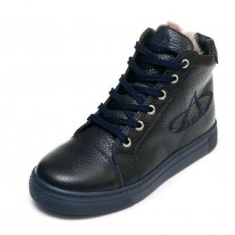 Ботинки зимние AlilA тёмно-синие