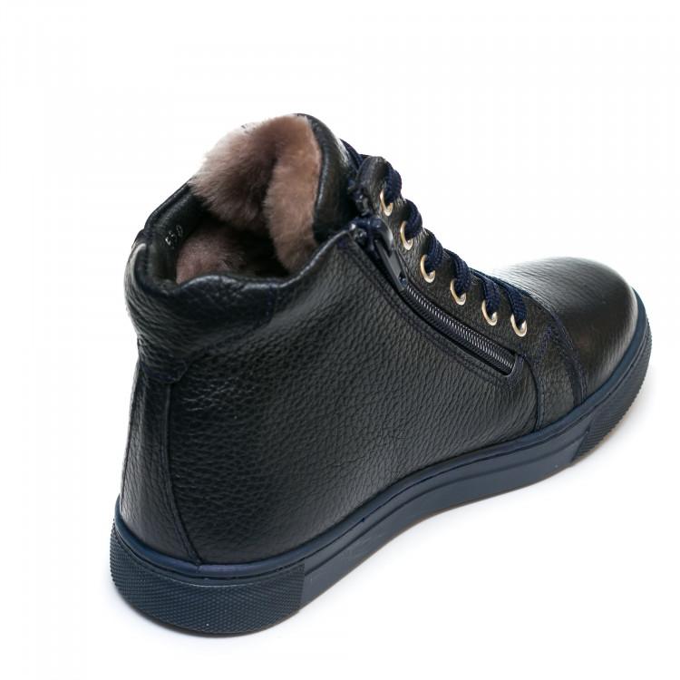 Ботинки зима AlilA Z343SR шнурок темно-синие(31-36)