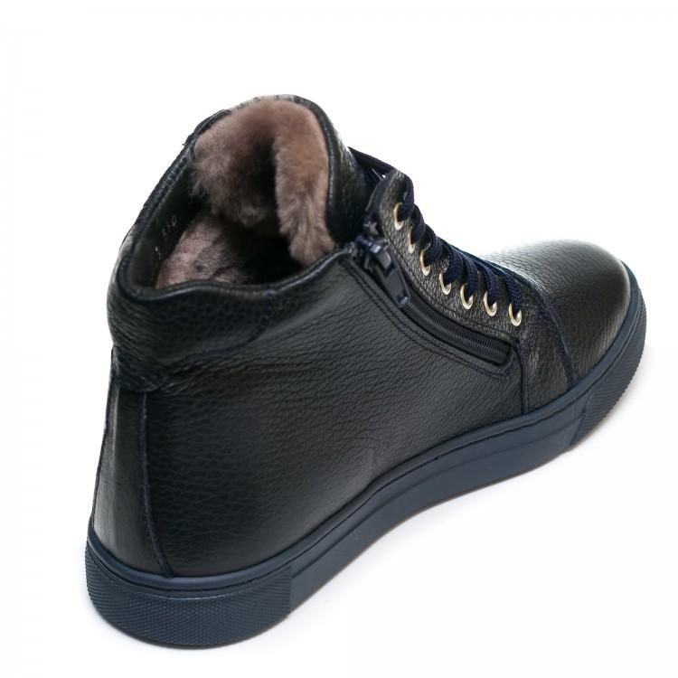 Ботинки зима AlilA Z343SR шнурок темно-синие(37-40)