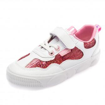 Кеды Fashion Y7109(31-37) пайетка розовая