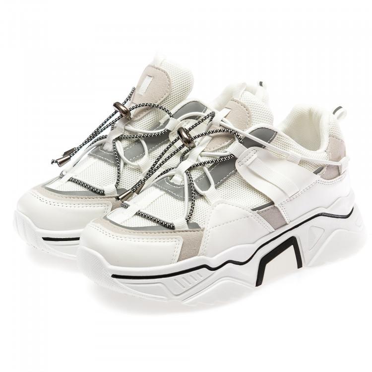 Кроссовки Fashion 66-2(36-41) белые