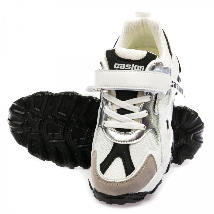 Кроссовки Caslon K208006(38-41) бел/сер