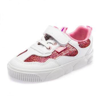 Кеды Fashion Y7109(25-30) пайетка розовая