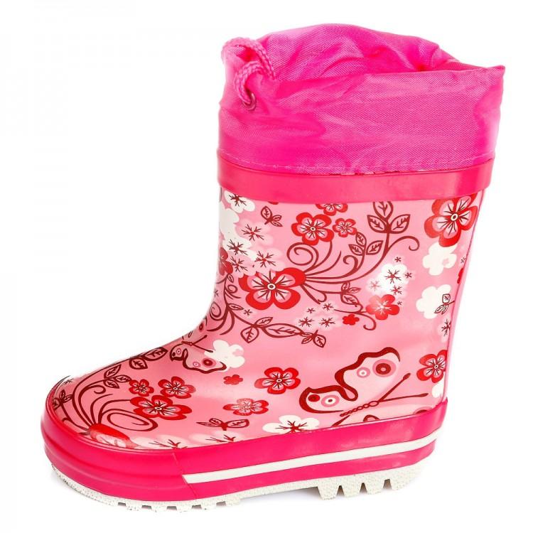 Резиновые сапоги КалориЯ RG-04B цветок розовый